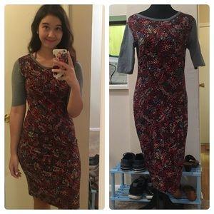 Lularoe Fitted Patterned Dress